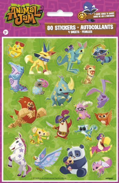 Animal Jam Sticker Sheets (4)